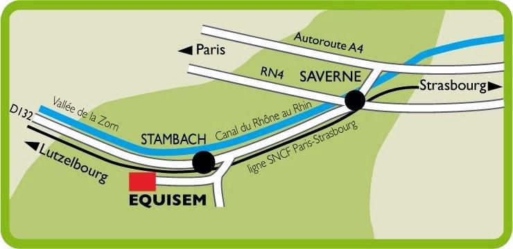 Plan d'accès au Domaine Equestre